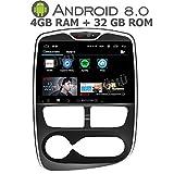 GÜMÜ - PX5PROAT02 - Renault Clio GPS Autoradio 4 DE 2012 bis 2016-10,2 Zoll - Android 8,0 Oreo + 4 GB RAM + 32 GB Speicher - Bluetooth- USB-Schlüssel - WiFi -