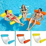 ArKone Aufblasbares Schwimmbett Wasser-Hängematte Loungesessel bequem Schwimmbad Strand Schwimmen Schwimmbad Schwimmen Schwimmbad Strand Schwimmen für Erwachsene - blau