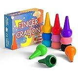 Gibot Kleinkinder Wachsmalstifte Handflächengriff Wachsmalstifte, 12 Farben Zeichenstift Wachsmalstifte Stapelbares Spielzeug für Kinder, Kleinkinder und Kinder, Sicher und Nicht toxisch.