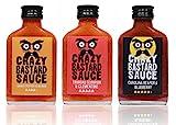Crazy B Sauce - 3er Set - Extreme Scharfe Chilisauce mit der Schärfste Chilis der Welt - Ghost Pepper, Trinidad Scorpion, und Carolina Reaper - Geschenkset für Chili-liebhaber