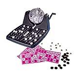 Noris 606150493 Bingotrommel inkl. Chips, 90 Kugeln und 12 Bingokarten, Aktionsspiel für Die ganze Familie, für Kinder ab 6 Jahren