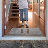 Lifewit Indoor Fußmatte Super Absorbent Water Low-Profile Mats Maschinenwaschbar Rutschfester Gummi-Einstiegsteppich für die Innentür der Matten - Grau, 60 x 90 cm