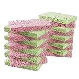 LTWHOME Natürliche Zellulose Schwämme Kratzfest haltbare Reinigungsschwämme Artikelnummer CSS120(Packung mit 20)