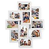 SONGMICS Bilderrahmen Collage für 10 Fotos, je 10 x 15 cm (4' x 6'), aus MDF-Platten, Montage erforderlich, weiß RPF20WT
