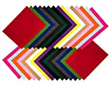 Bastelfilz 30 Filzplatten dekorativer Filzstoff DIN A4 farblich sortiert 2 Bögen je Farbe Filzuntersetzer Platzset Filz zum Basteln