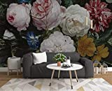 Fototapete 3D Effekt Tapeten Vintage Handgezeichnete Rose Blume Wandtapete Wandbild Wand Dekoration