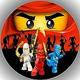 Fondant Tortenaufleger Tortenbild Geburtstag Kompatibel mit Ninjago AMA 10