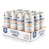 Multipower EAA Essential Amino Acids Energy Drink, erfrischendes Sportgetränk mit Energy-Boost, zuckerfreies Erfrischungsgetränk mit Aminosäuren, Vitaminen und Zink, Grapefruit Orange, 12 x 330 ml