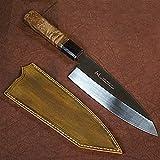 NLJYSH Robustem Messer 180mm High Carbon Stahl Edelstahl Lachsmesser Japanische Küchenmesser Kochmesser Schneidwerkzeuge hochwertigem Multipurpose Use (Color : Deba Knife)