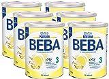 Nestlé BEBA 3 Folgemilch, Folgenahrung ab dem 10. Monat, 6er Pack (6 x 800g)