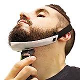 Aberlite Bartformer — Flex-Schablone für Halsrasur — Freihändig & Anpassungsfähig — Die Ultimative Trimm-Schablone für die Halslinie (Patent angemeldet) (Weiß) — Bart-Trimmer — Bart-Schablone