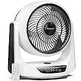 Pro Breeze 25 cm Turbo Ventilator mit automatischer Duo-Oszillation, 9 Lüftungsstufen, 4 Betriebsmodi, Timer, LED-Anzeige und Fernbedienung. Perfekt als Tischventilator im Büro oder Schlafzimmer