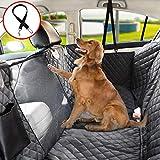 Vailge Autoschondecke für Hunde Rücksitz rutschfeste Hundedecke Auto Rückbank wasserdichte mit Sichtfenster, Kofferraumschutz Hund mit Sicherheitsgurt für Car Van SUV (Standard(142cm W x152cm L))