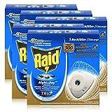 5x Raid Night & Day Trio Insekten Stecker Nachfüller, gegen Mücken, Fliegen & Ameisen
