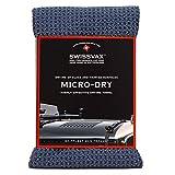 SWISSVAX MICRO-DRY superweiches premium Microfaser Trockentuch, Auto Trockenwunder Waffeltuch mit enormer Saugkraft, absolut streifenfrei trocknen, 80x55 cm groß anthrazit grau