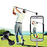 SIZIMA Golf Handyhalter Swing Recording Trainingshilfen - Universal Handy Cliphalter für Golf Trolley, Buggy oder Cart - Auto kopfstützen Halterung - Funktioniert mit jedem Smartphone - Golfzubehör