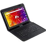 ACEPAD A121 (10.1') Tablet PC 3G, 2GB RAM, 64GB Speicher, Android 9.0 Pie, Dual-SIM, IPS HD 1280x800, Quad Core CPU, WiFi/WLAN/Bluetooth, microUSB/microSD (Alu-Schwarz mit Tastaturtasche)