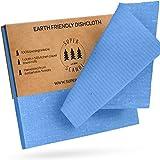 SUPERSCANDI Schweden-Geschirrtücher, umweltfreundlich, wiederverwendbar, nachhaltig, biologisch abbaubar, Zellstoff-Schwamm, Ersatz-Reinigungstücher 10er Pack Blau
