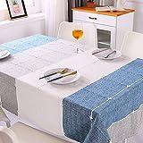 Topmail Tischdecke Rechteck Abwaschbar Polyester Elegante mit Quaste Tischtuch Couchtisch Tischdecke Gartentischdecke Geeignet für Home Küche Dekoration (Multi-1, 140 x 180 cm)