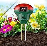 Bearbro 3-in-1 Bodentester,Pflanzen Bodentester Boden Feuchtigkeitsmesser Boden pH Messgerät Lichtstärke Meter, Bodenmessgerät für Rasen Bauernhof Garten, Indoor Outdoor(kein Akku erforderlich)