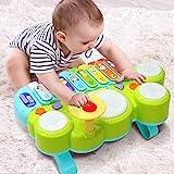 Ohuhu Babyspielzeug Klavier und Trommel Musikspielzeug für Baby und Kleinkinder, Spielen Klaviertastatur, Xylophon Elektronische Lernspielzeug für Kleinkind, Kinder,Geburtstagsgeschenke