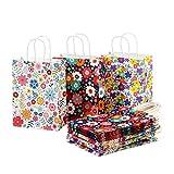 CozofLuv 30 Stück Geschenktüten Geschenktaschen Präsenttüten Papiertüten Papiertaschen Papier Tragetaschen Papiertüte Tüten mit Griff Kordel Henkel (30 Stück))