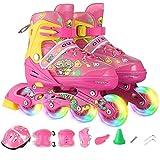 Kinder Inline Skates einreihig Skating-Schuhe, Anfänger Breath Roller Skates, Größe einstellbar (Farbe: # 2, Größe: M (35-38) Turnschuhe 33-37) dongdong ( Color : #2 , Size : M (3538) sneakers 3337 )
