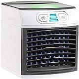 Sichler Haushaltsgeräte Tischklimagerät: 2in1-Tisch-Luftkühler und -Luftbefeuchter, Ultraschall-Vernebler, LEDs (Klimawürfel)