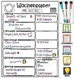 Libetui Magnetischer Wochenplaner, Magnettafel für Küche, Menüplaner, Weekly Menu Planer, nützliches Notizbrett für Einkaufsliste, 405 x 305 mm