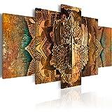 murando - Bilder 200x100 cm Vlies Leinwandbild 5 TLG Kunstdruck modern Wandbilder XXL Wanddekoration Design Wand Bild - AFFE Gold Ornament n-A-0051-b-n