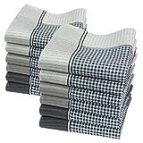 Merrysquare - Taschentücher für Herren - Großes Format 40cm x 40cm - 12 Stück - 100% Baumwolle - Modell OLIVER