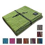 Craft Story Decke YARA I Uni apfelgrün aus 100% Baumwolle I Tagesdecke I Sofa-Decke I Couch-Überwurf I Bedspread I Plaid I 170 x 220cm