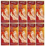 M&H-24 Wärmesohlen für Schuhe-Füße Fußwärmer Pads Sohlen-Wärmer für warme Füße im Winter, 5 Paar beheizbare Einlegesohlen bis zu 10 Stunden 38°C, Grösse 36-41