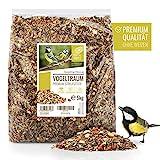 wildtier herz Vogeltraum - Premium Vogelfutter 5 kg – ohne Weizen, Vogelstreufutter für Meisen, Rotkehlchen & Co – Ganzjahresfutter für Wildvögel, Vogelhaus & Futterspender