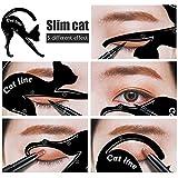 Cat Eyeliner Schablone, 10 Styles, Catlook, Katzenaugen by BLISSANY, Cat Eyeliner, Lidstrich Schablone, Extravagant Cat, Smokey Eyeliner