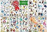 Königsherz® Kinder Tattoo Set mit verschiedene Prinzessinnen mitgebsel Kindertattoos für Mädchen und Jungen Aufkleber Wasserdicht Geschenk für Kinder Temporäre Tattoos Set Kinder[10 Blätter]