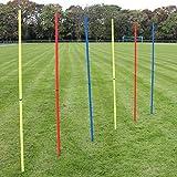 Superspieler24 5 x Slalomstange 180 cm mit ø 25 mm, für Fußball-Training (rot)