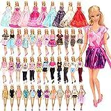 Miunana 21 Stück Kleidung = 5 Casual Kleider + 5 Tops + 5Hosen +3 Abendkleider + 3 Badenanzug für 11,5 Zoll Mädchen Puppen