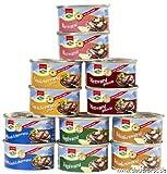 12 Dosen a 125g Dosenwurst, 6 Sorten je 2 Dosen, insgesamt 1,5 kg (8,97 EUR/kg), Lebensmittelvorrat Konserven