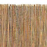 ESTEXO Bambusmatte - Sichtschutzzaun, Gartenzaun, Natur, Bambus, Zaun, Sichtschutz, Windschutz (1,20m x 5,00m)