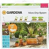 Gardena Start Set Pflanztöpfe M: Praktisches Micro-Drip-System Starterset für 7 Topfpflanzen und 3 Pflanztröge, wassersparende Bewässerung (13001-20)