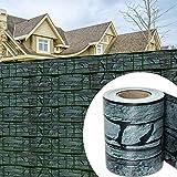 wolketon 35M x 19cm PVC Sichtschutzstreifen 450 g/㎡ Zaunfolie extra dick Blickdicht UV-bestädig für den Gartenzaun oder Balkon