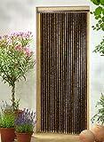 Leguana Handels GmbH Holzperlenvorhang Perlenvorhang Türvorhang 'Sumatra' ca. 90x200cm (BxH)