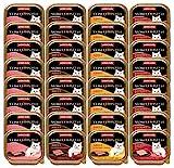 animonda Vom Feinsten Adult Katzenfutter, Nassfutter für ausgewachsene Katzen, Mix Leckere Fleisch-Vielfalt, 32 x 100 g