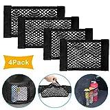 MHwan Kofferraum Netztasche Gepäcknetz, Kofferraum Netztasche, Stretchy Auto Rücksitz Organizer Taschen Magic Sticker Elastic String Net für Auto, 35x25cm, 40x25cm, 4 Stück