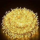 LED Lichterkette Außen Warmweiß 100M 1000 LEDs Elegear LED Weihnachtsbeleuchtung Strombetrieb Deko 8 Modi für Innen Außen Neujahr Weihnachten Geburtstag Feiertag Party Hotel Garten Hochzeit