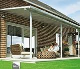 Hochwertige ALU Terrassenüberdachung/Veranda - 420 x 300 (BxT) / Überdachung Palram Sierra Weiß