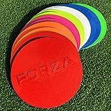 FORZA Flache Markierungshütchen - runde Sport-Markierungsteller - in 8 Farben erhältlich (Rosa)