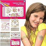 Geschenke für Mädchen - Tattoos Mädchen Temporäre Flash Tattoos & Klebetattoos Tattoos Glitter Mitgebsel Mädchen- Mädchen Geschenke 3 4 5 6 7 8 9 10 11 12 Jahre