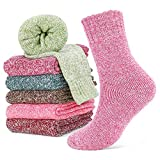 Emooqi Damen Socken,Warme Dicke Baumwollsocken Damen Winter Wollsocken - 6 Paar - Color Series - UK 4-8/EU 35-42